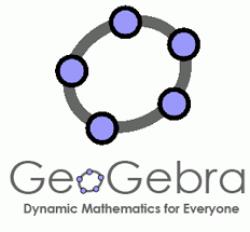 logo de l'application mathématiques Geogebra